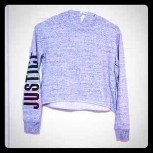 Justice Crop sweatshirt